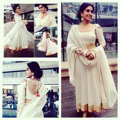 Actress Regina Cassandra wearing Shilpa Reddy garment from India Fashion Week Dubai Collection