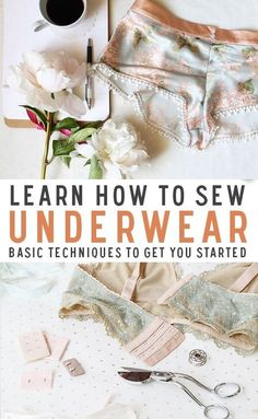 Ever wanted to make your own underwear? Learn the basics of sewing underwear, intimates and bras. We have also projects and patterns to get you inspired! sewing Sewing: How To Make Underwear by Ohhh Lulu Sews Lingerie Couture, Sewing Lingerie, Lingerie Patterns, Sewing Hacks, Sewing Tutorials, Sewing Tips, Sewing Basics, Sewing Ideas, Sewing Designs