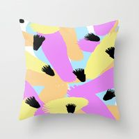 Throw Pillow featuring Judy by Gonpart