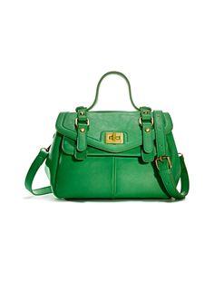 """Perfect """"pop of color"""" summer bag emerald crossbody bag"""