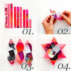 DIY: Upcycled magazine gift wrap