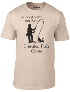 So Good with my Rod T-Shirt - Funny t shirt Fishing Fish sport joke river sea Glitch, Cool T Shirts, Funny Tshirts, Fishing, Jokes, River, Sea, Awesome, Sports