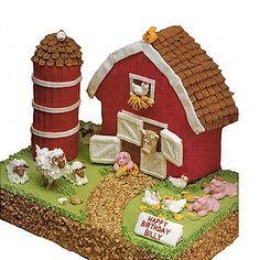 3D Farm House Cake Pan