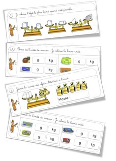 Rituels exercices : Mesure : les masses Daily Math, Math 5, Math Games, Montessori Math, Homeschool Math, Math School, 1st Grade Math, Math For Kids, Elementary Math