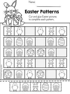 Easter Patterns >> Part of the Easter Kindergarten Math Worksheets packet