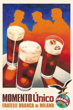 Historia de la propaganda: Fernet Branca /// Geschichte der Propaganda: Fernet Branca /// History of propaganda: Fernet Branca Vintage Advertising Posters, Poster Vintage, Vintage Advertisements, Vintage Ads, Vintage Decor, Poster Ads, Poster Prints, Italian Posters, Elegant Couple