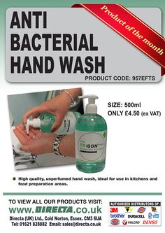 PRODUCT OF THE MONTH!! *New* Anti Bacterial Hand Wash! Order 6 and get 10% off on our website www.directa.co.uk