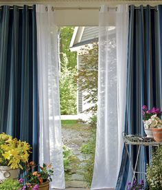 Add Chic Style with Sheer Curtains - Layer with blackout curtains - You'll have the largest amount of options when it comes to how much light you want to let in. Kids Curtains, How To Make Curtains, Cool Curtains, Sheer Curtains, Blackout Curtains, Bedroom Curtains, Luxury Curtains, Curtains Living, Modern Curtains