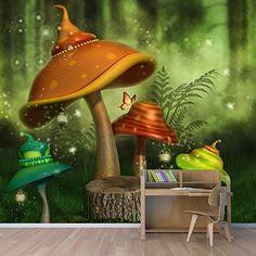 Znalezione obrazy dla zapytania magic forest wall