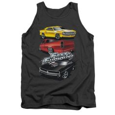 Fast And The Furious - Muscle Car Splatter Adult Tank Top T-Shirt