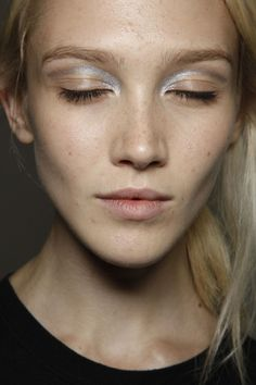 Gold glaze on the freckled face (texture)3.1 Phillip Lim Spring 2012 - Backstage
