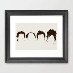 Seinfeld+Hair+Framed+Art+Print+by+Bill+Pyle+-+$33.00