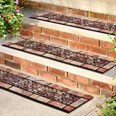 The Patio Stones Stair Tread Features A Unique Grit Surface That Provides  Traction In High Traffic Areas. This Stair Tread Is Made Of Recycled Rubber  And Is ...