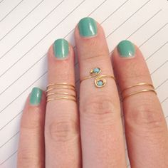 Simple tutorial on how to create your own beaded or stacked midi rings.