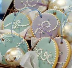Anise scented Cookies. In lieu of evergreens or tinsel this season, deck your halls with these sugar cookies. The bottoms are studded with anise seeds for flavor, leaving the tops free and clear for Royal Icing and other decorations.