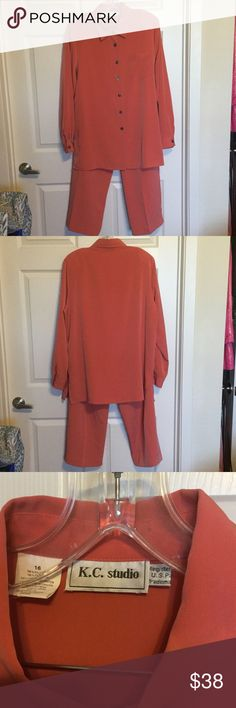 K. C. Studio  2 Pc Pant Suit Beautiful coral pant set Pants Jumpsuits & Rompers
