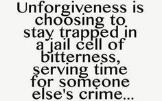 or your own crime if you can't forgive yourself.