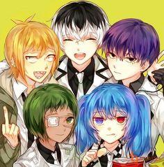 Tokyo Ghoul: Which character are you? Shirazu Tokyo Ghoul, Juuzou Tokyo Ghoul, Ken Tokyo Ghoul, Tsukiyama, Ayato, Kaneki, Saiko Yonebayashi, Aho Girl, Manga Anime