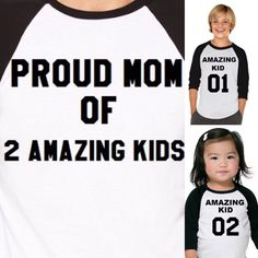 Proud Daddy /mommy 01/Son /Daughter 01. Proud Family matching shirts. Mommy and me / Daddy and me. Sibilis 4 raglan shirts for only 93.99