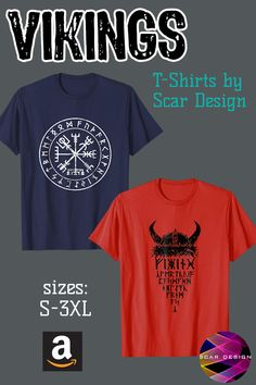 Vikings Warrior Shirts Gym Mens T-Shirt by Scar Design. For Men 7d07103b8