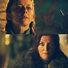 That awkward moment when you realize that your sister has completely lost her mind. Lysa Arryn and Catelyn Stark.