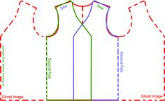 """Brag Vests 24""""L x 19.861""""W   Transfer vest pattern to a large piece of Card Stock or Poster Board. This will allow multiple youths to cut their patterns at the same time.  Fold felt material in half and pin pattern along folded edge where pattern states """"Fold Here""""  Cut pattern out carefully.  Unfold felt and re-fold according to the diagram below.  Sew both sholder locations.  Turn inside out.  QED -Quite Easily Done"""