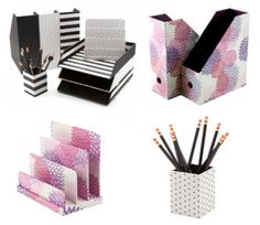 See Jane Work Collection at Office Depot- Loving the black and white office supplies, and pink and purple too!