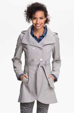 GUESS Hooded Double Breasted Trench Coat (Online Only) | Nordstrom
