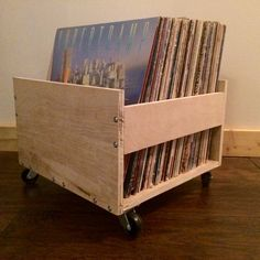 LP Crate with Customizable Lettering