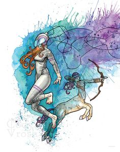 Sagittarius Zodiac Art  Archer Art Sagittarius by CodyVrosh