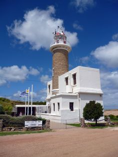 Lighthouse at Punta Brava, River Plate, Montevideo Uruguay