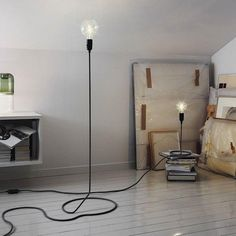 CORD LAMP table lamp transforms the electric wire into foot of standard lamp - DESIGN HOUSE STOCKHOLM