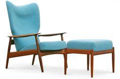Sessel K. Rasmussen Teak 60er 50er Danish Modern Design Mid Century easy chair in Antiquitäten & Kunst, Design & Stil, 1960-1969 | eBay
