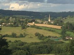 View over the Painswick Valley from the Edgmoor Inn, Edge, Stroud, Gloucestershire.
