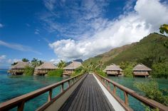 """InterContinental Moorea Resort & Spa is set upon a lovely beach in 17 acres of luxuriant gardens. The resort boasts activities on the island—from water skiing and kayaks to Jeep safaris and dolphin encounters. Truly feel like a VIP when you book with Travel with Terra and get these Exclusive Terra Perks: **""""Full Breakfast for two daily at Fare Nui Restaurant.   Dinner for up to two people per room, once during stay (Excluding beverages) &  6,000 CFP Beverage credit, per room, per stay.**"""