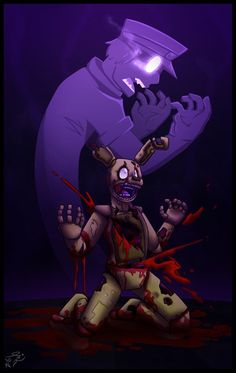 Purple guy in the Spring Trap... I... Everytime I see these pics I almost start crying....