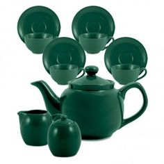 Amsterdam Tea Set - 6 Cup - Green