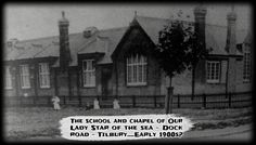 history Tilbury our Lady of the sea dock road old photographs