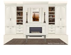 "Fireplace and built-ins Inspiration: ""Segreto Vignettes"" by Leslie Sinclair"