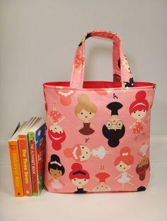 Ballerina Tote Bag, Mini Tote Bag, Girls Bag, Toddler Tote Bag, Little Girls Purse, Ballerina Purse, Kids Tote Bag by BallyandLis on Etsy https://www.etsy.com/listing/220540759/ballerina-tote-bag-mini-tote-bag-girls
