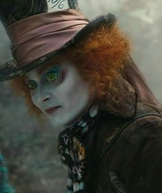 Johnny Depp as the Mad Hatter in Alice in Wonderland