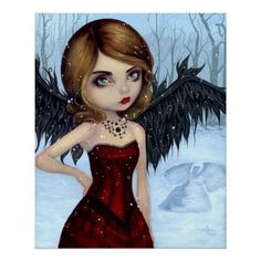 Snow Angels winter fairy - Jasmine Becket-Griffith