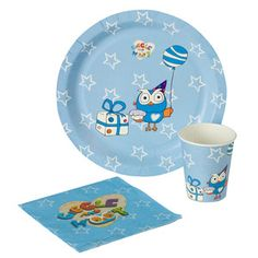 Giggle and Hoot Party Pack | Merchandise | ABC Shop  10 plates/cups and 20 napkins