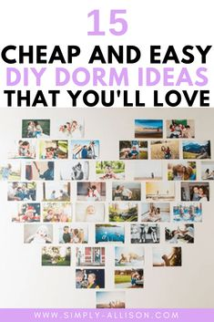 I absolutely obsessed with these DIY dorm decor. They are so easy to do and saves me so much money. Here are 15 DIY dorm decor ideas to add your own personal touch to your dorm room. Diy Dorm Decor, College Dorm Decorations, Cozy Dorm Room, Dorm Rooms, College Walls, College Tips, Dorm Room Organization, Thing 1, Creative