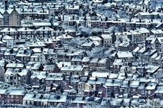"""'Sheffield Houses' (12"""" x 8"""") by Matthew Woodward /// #socialsheffield #sheffield #christmasgift /// Available to buy as a mounted print here: http://www.socialsheffield.net/magazine/buy-prints/"""