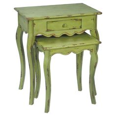 Found it at Wayfair - Verde 2 Piece Nesting Table Set in Green