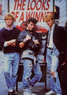 a-ha looking like winners (80's)