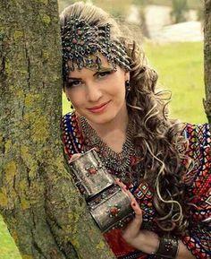 Traditional Algerian headdress from the region kabylie