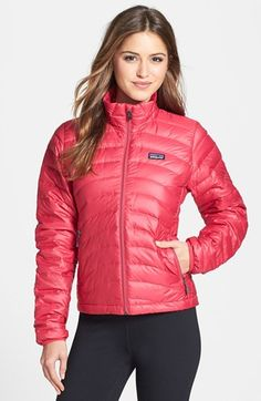 -Name: Patagonia Women's Down Sweater Jacket -Color: Black -Size: Small -Why: Perfect for cold school days but also cold Giants game -Patagonia:  http://www.patagonia.com/us/product/womens-down-sweater-jacket?p=84682-0  -Also avaiblable at Nordstrom: http://shop.nordstrom.com/s/patagonia-down-sweater-jacket/3221218