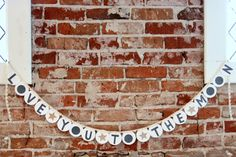 love you to the moon baby shower garland